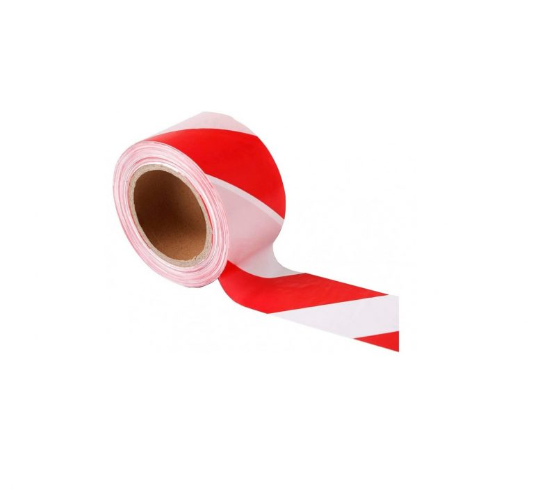 2.75inch 70mm Red and White Barrier Tape