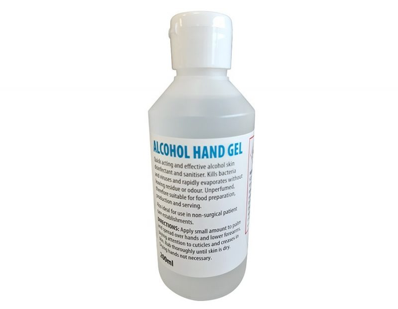 70% Alcohol Hand Sanitising Gel 200ml bottle