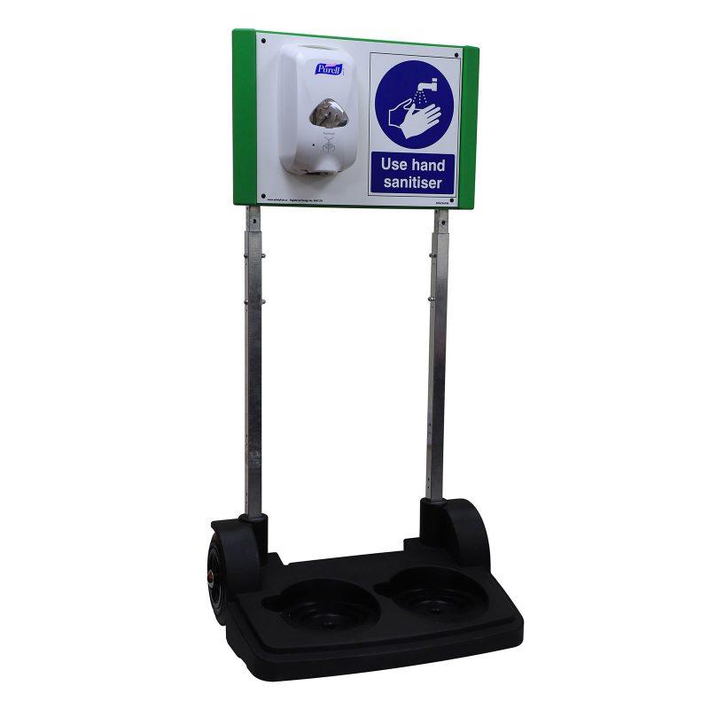 Safety Hub Sanitiser Stand with Bulk Fill Dispenser