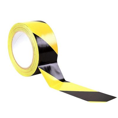 Black and Yellow Hazard Floor Tape 50mm x 33m