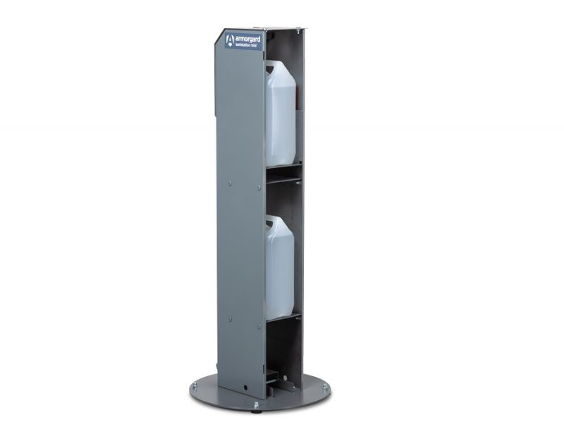 Armorgard Sanistation Mini Hands Free Sanitiser Stand - Storage image