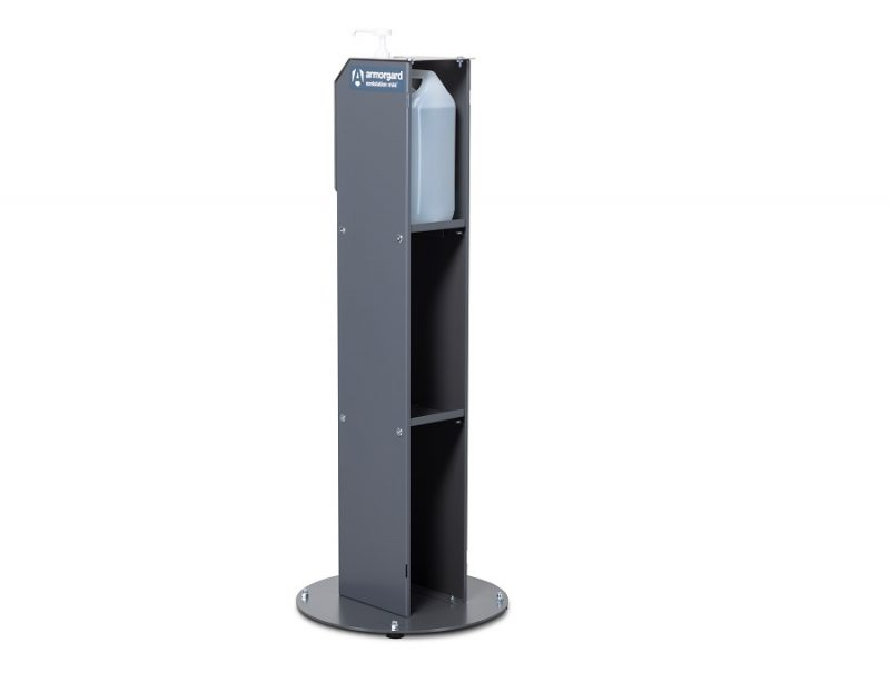Armorgard S10P Sanistation Mini 5 L Pump Sanitiser Stand with Storage- Rear Image