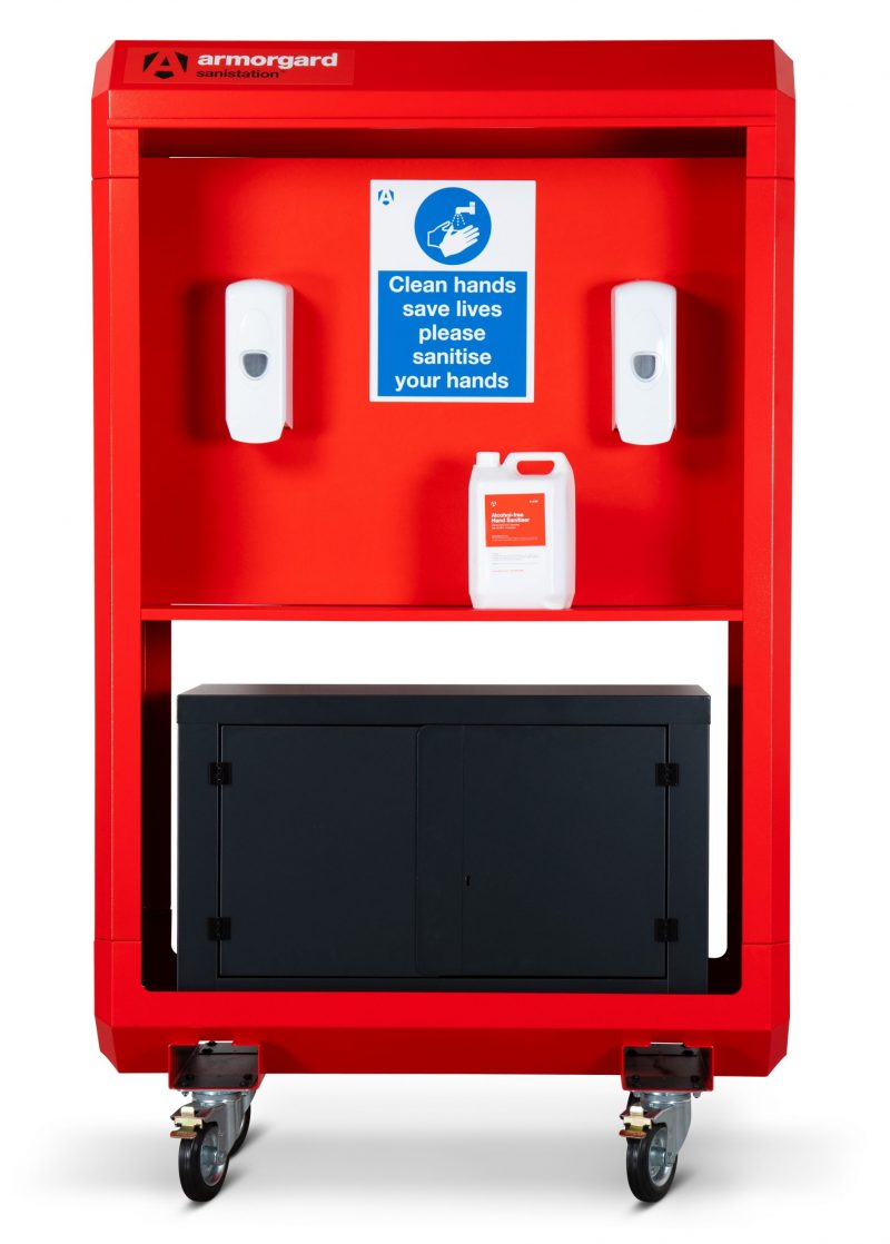 Sanitstation Site Unit with Shelf and Lockable Storage