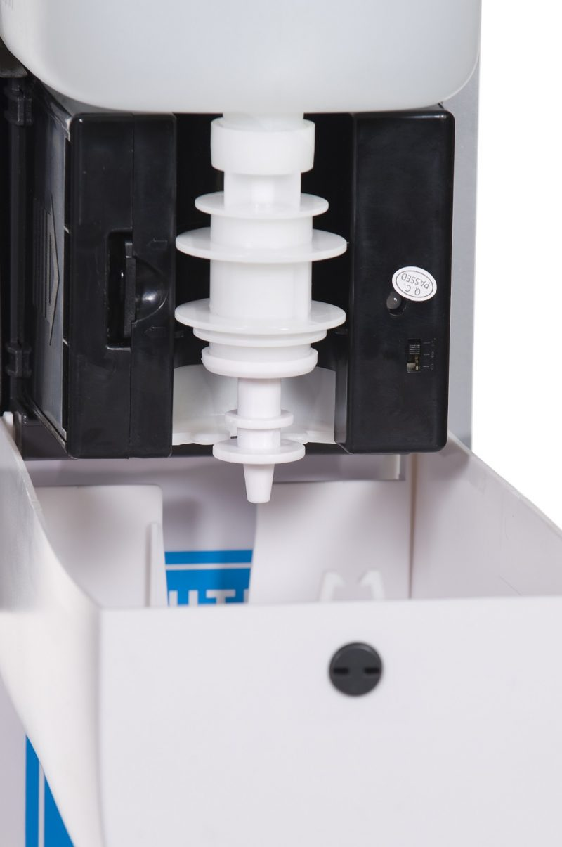 Automatic Hand Sanitiser Stand - Close up dispenser mechanism