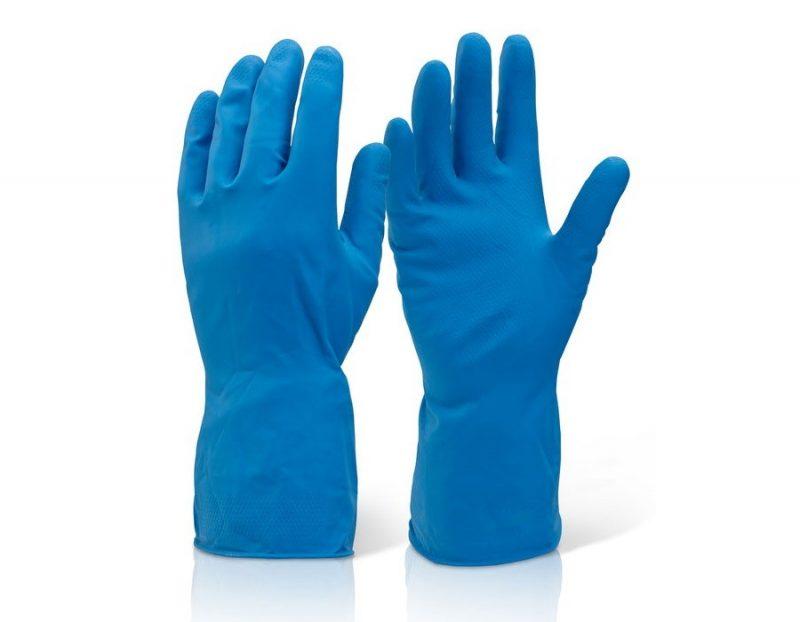 household medium weight rubber gloves