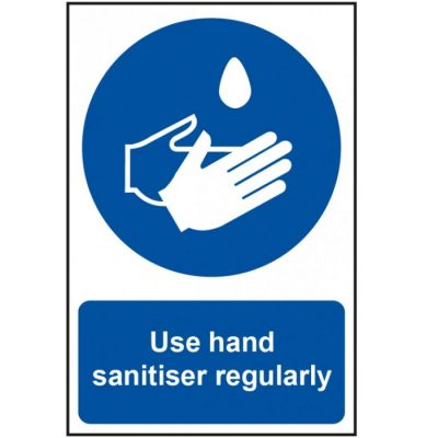 Use Hand Sanitiser Regularly Sign 200 x 300mm